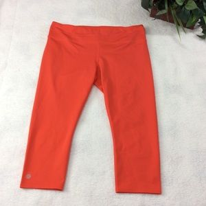 Athleta Orange Yoga Workout Pants Size XL.